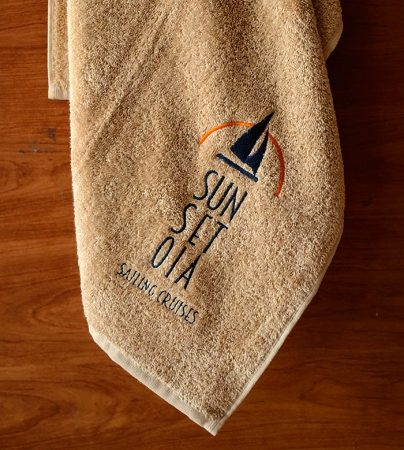 Swimming Pool embroidered towel with anti-UV and anti-chlorine